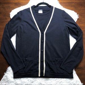 Chanel 2-Piece Navy Cardigan and Tee Uniform Set